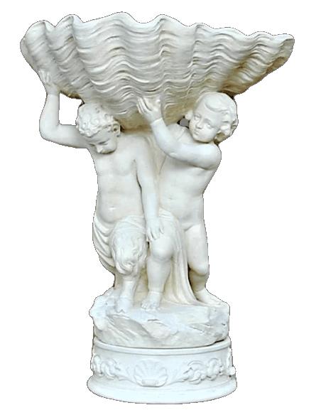 Vasque en forme de coquillage géant ou bénitier d'Ambleville