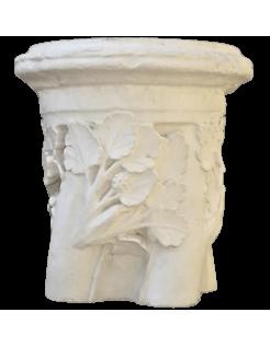 Bague de colonne torsadée motifs floraux - XIIIe Siècle