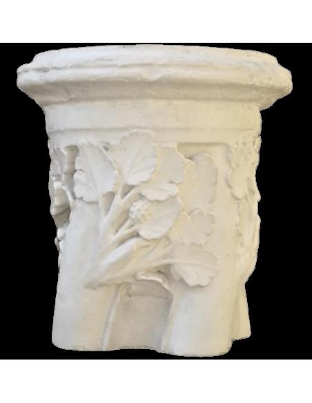 Anillo de columna torneada con motivos florales - Siglo XIII