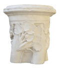 Twisted column ring with floral motifs - XIIIth Century