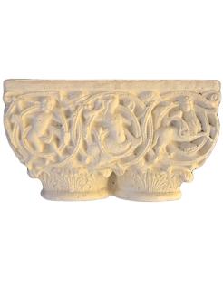 Chapiteau jumelé décoré de centaures et de sirènes - XIIe siècle
