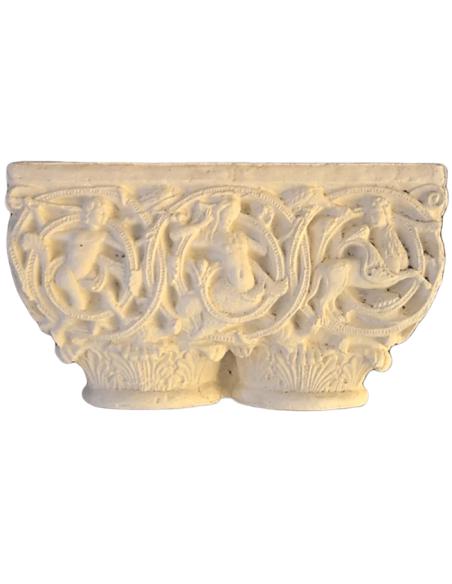 Capitel gemelo decorado con centauros y sirenas - Siglo XII