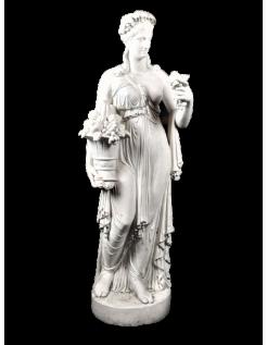 Estatua de la diosa Pomona, diosa romana de la fruta, y de la abundancia