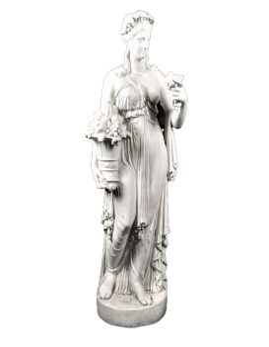 Statue of the goddess Pomona, Roman goddess of fruit and abundance