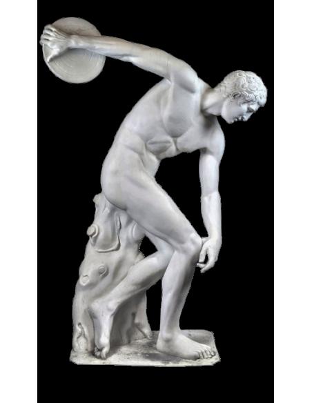 Estatua de tamaño real del Discobole o del lanzador de discos de Myron