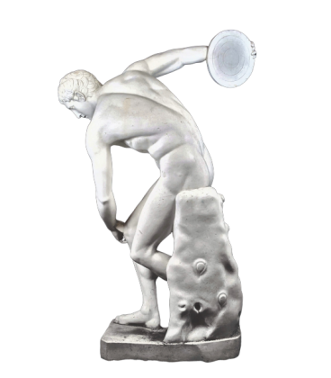 Life-size statue of the Discobolus of Myron or discus thrower