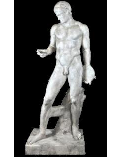 Estatua de tamaño real del Discóforo o portador de disco atribuido a Policleto