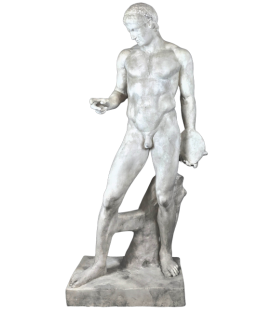 Life-size statue of the Discobolus or discus thrower by Polyclitus