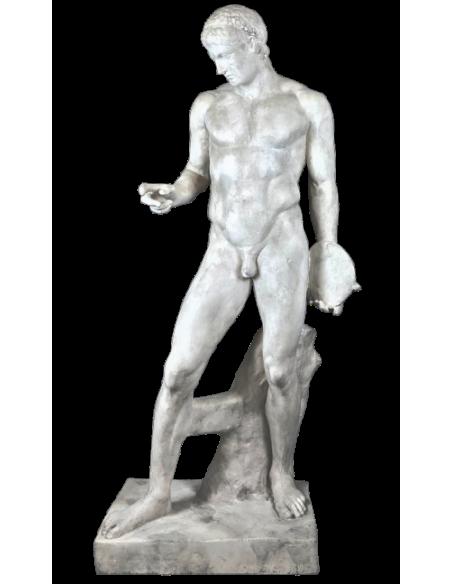 Statue à taille réelle le Discophore ou porteur de disque attribuée à Polyclète