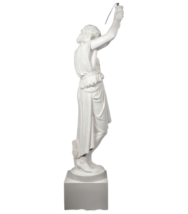 Young egyptian light-bearer- life-size statue.