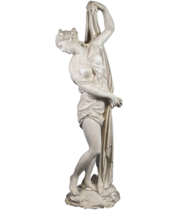 The Venus Callipyge, or the Callipygian Venus, or Aphrodite of the beautiful buttocks - Life-size statue