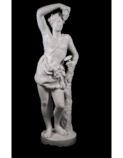 Dioniso o Baco dios del vino, el teatro y la locura -estatua de tamaño real