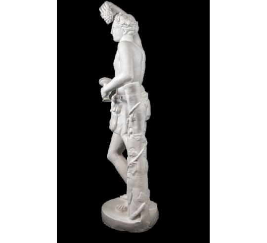 Dionysos ou Bacchus, dieu du vin, du théâtre et de la folie - statue grandeur nature
