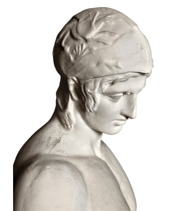 Statue of the god Mars or Ares Borghese - Louvre Museum - life-size statue