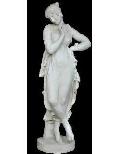 Bailarina con el dedo en la barbilla por Antonio Canova - estatua de tamaño real
