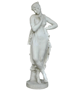 Dancer with Finger on Chin by Antonio Canova - life-size statue