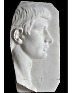 Visage de profil homme romain