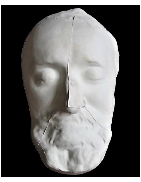 Máscara mortuoria de Enrique IV conocido comme el Grande, rey de Francia