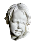 Crying child bust by Pierre Puget