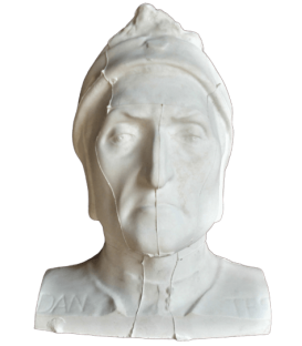 Mortuary mask of Dante Alighieri with part of the shoulders