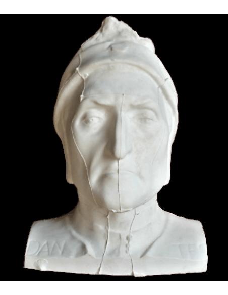Máscara mortuoria de Dante Alighieri con parte de los hombros