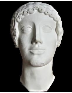Buste du dieu Apollon, esthétique étrusque
