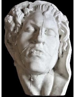Bust of the sleeping satyr by Edmé Bouchardon