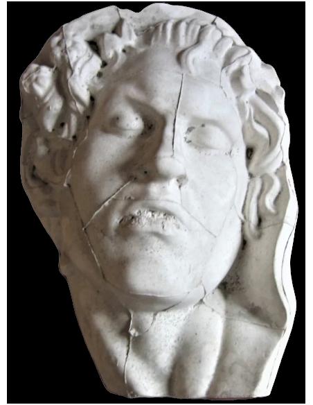 Busto del sátiro durmiente por Edmé Bouchardon