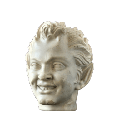 Bust of laughing satyr