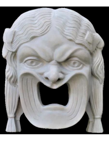 Máscara de tragedia griega