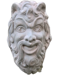Máscara de sátiro de Pompeya