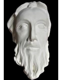 Tête de personnage style byzantin, cathédrale d'evreux
