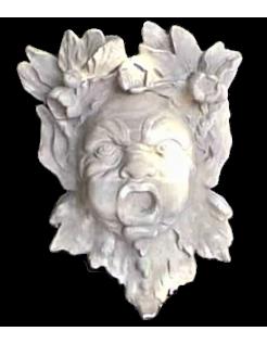 Máscara de genio del agua