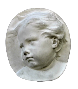 Child's face in profile left side Dutch baroque style
