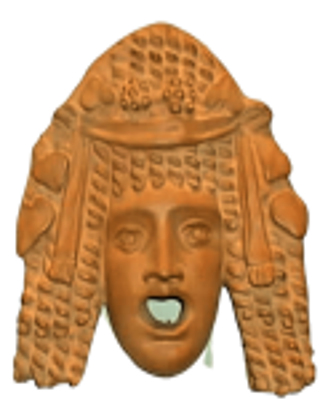 Masque de comédie grecque