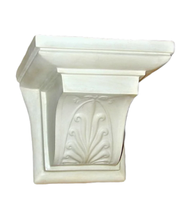 Greek style wall console with palmette design