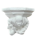 Gothic style wall console with blower