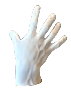 Etude de main droite d'après statue antique