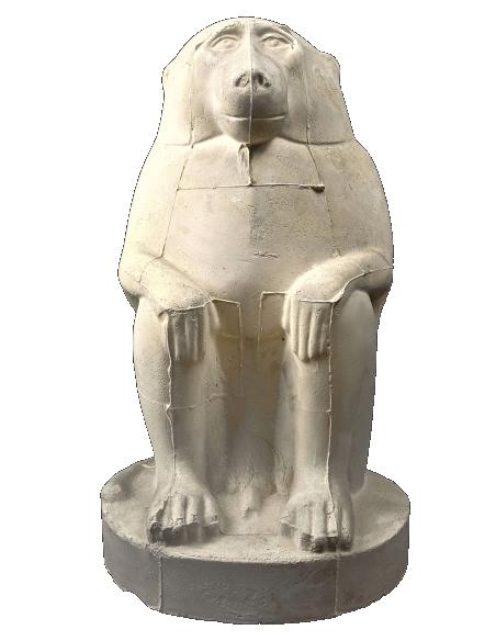 Thoth representado en babuino o mono cinocéfalo - Museo del Louvre