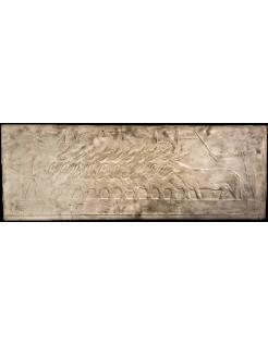 Bas relief égyptien - nécropole de Saqqara Mastaba de Ti - éleveurs menant des ânes aux travaux des champs