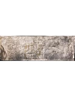 Bajo relieve egipcio - necrópolis de Saqqara Mastaba de Ti - pastores rodeando garzas