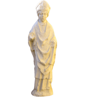 Bishop statue - element of Reims Cathedral
