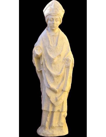 Estatua de obispo - elemento de la catedral de Reims