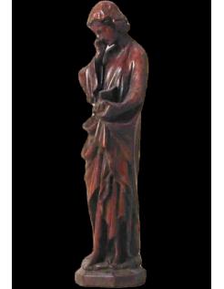 Statue saint Jean évangeliste lisant la bible