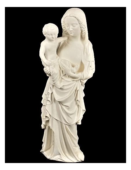 Estatua de la Virgen con el niño por Juan de Lieja