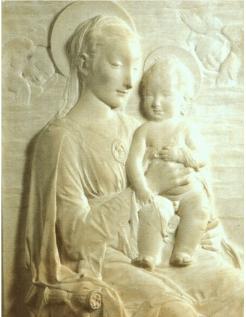 La Virgen y el Niño por Antonio Rosselino