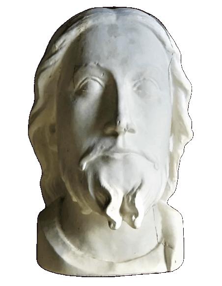 """Busto de Jesús """"Beau Dieu"""" Catedral de Amiens - Portada del Juicio Final"""