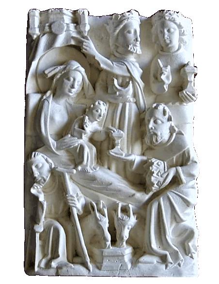 Nativity scene bas relief