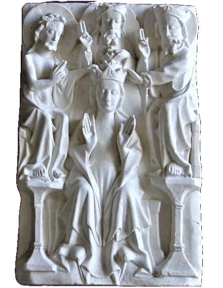 Bas-relief couronnement de la Vierge Marie