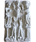 Bas-relief scene of the coronation of the Virgin Mary